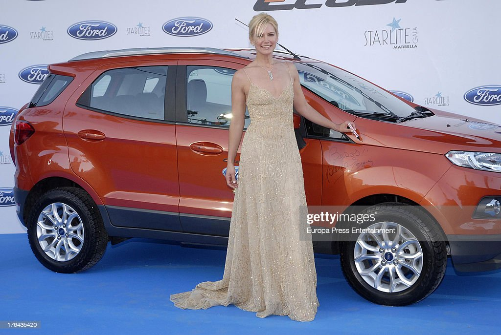 Valeria Mazza attends the 4rd annual Starlite Charity Gala on August 10, 2013 in Marbella, Spain.