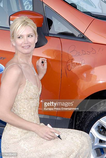 Valeria Mazza attends the 4rd annual Starlite Charity Gala on August 10 2013 in Marbella Spain