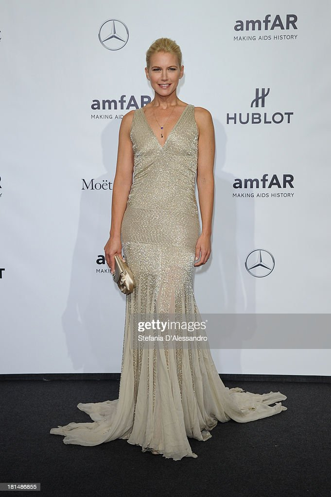<a gi-track='captionPersonalityLinkClicked' href=/galleries/search?phrase=Valeria+Mazza&family=editorial&specificpeople=213765 ng-click='$event.stopPropagation()'>Valeria Mazza</a> attends the amfAR Milano 2013 Gala as part of Milan Fashion Week Womenswear Spring/Summer 2014 at La Permanente on September 21, 2013 in Milan, Italy.