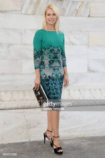 Valeria Mazza attends the Roberto Cavalli show as a part of Milan Fashion Week Womenswear Spring/Summer 2014 on September 21 2013 in Milan Italy