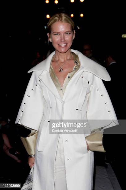 Valeria Mazza attends the Salvatore Ferragamo show as part of Milan Fashion Week Womenswear Autumn/Winter 2009 on March 1 2009 in Milan Italy