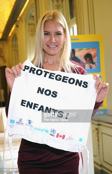 Valeria Mazza attends Unicef neonatal tetanus campaign presentation on September 26 2012 in Milan Italy