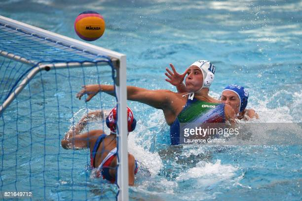Valeria Palmieri of Italy in action during the Women's Water Polo Quarter final match against Russia on day eleven of the Budapest 2017 FINA World...