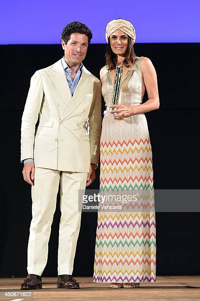 Valeria Solarino and Matteo Marzotto attend the 60th Taormina Film Fest on June 15 2014 in Taormina Italy