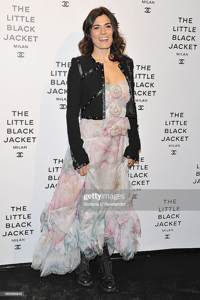 <a gi-track='captionPersonalityLinkClicked' href=/galleries/search?phrase=Valeria+Solarino&family=editorial&specificpeople=830514 ng-click='$event.stopPropagation()'>Valeria Solarino</a> attends Chanel The Little Black Jacket - Karl Lagerfeld Photography Exhibition Dinner Party on April 4, 2013 in Milan, Italy.