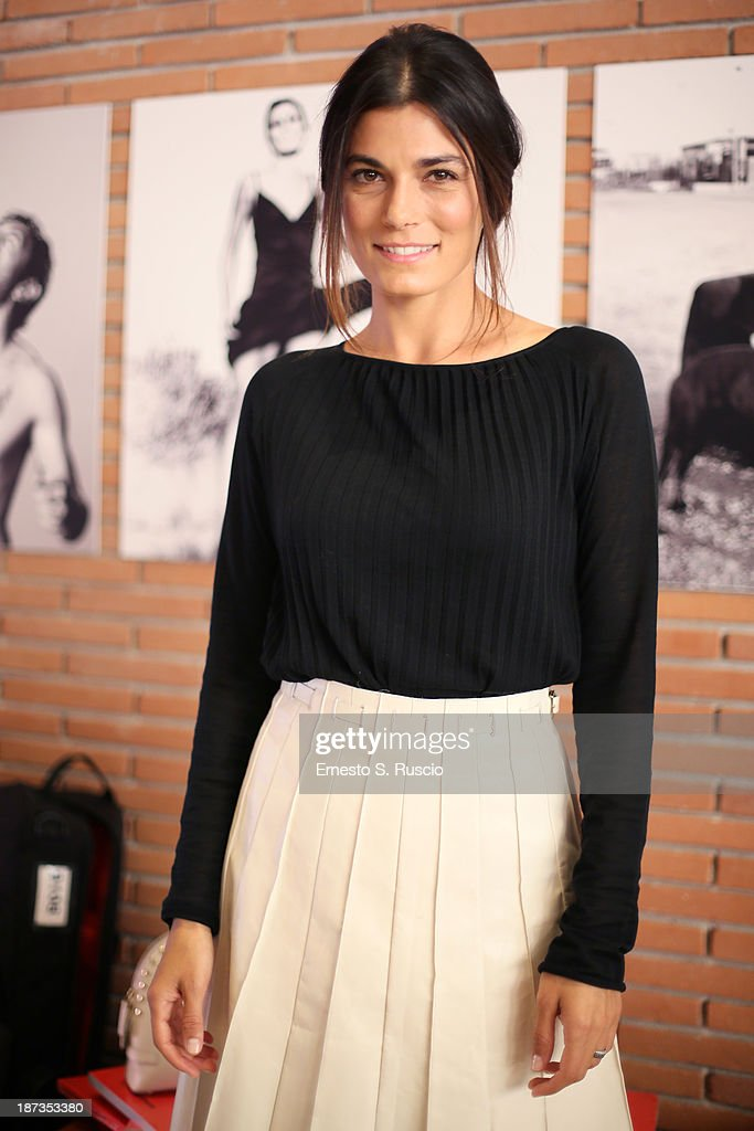 Valeria Solarino attends the Fabio Lovino Exhibition Opening during the 8th Rome Film Festival at the Auditorium Parco Della Musica on November 8, 2013 in Rome, Italy.