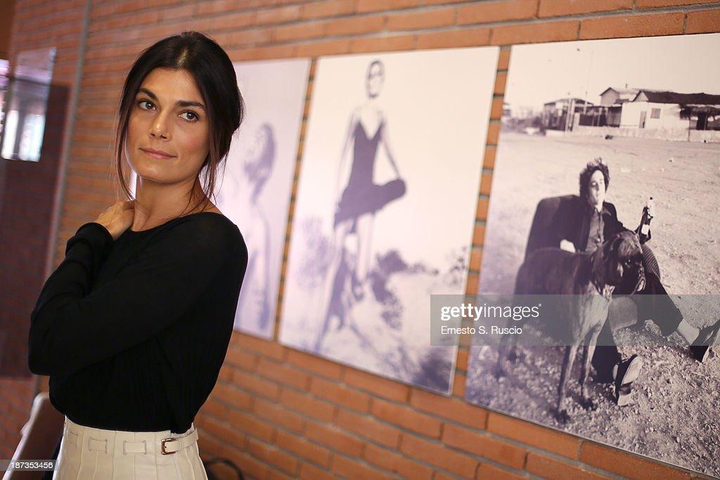 Valeria Solarino attends the Fabio Lovino Exhibition Opening during the 8th Rome Film Festival at the Auditorium Parco Della Musica on November 8, 2013 in Rome, Italy.