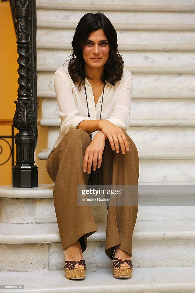 Valeria Solarino attends the 'Meglio Se Stai Zitta' photocall at Hotel Regina Baglioni on April 18, 2013 in Rome, Italy.