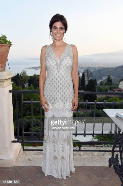 Valeria Solarino attends the Nastri D'Argento Awards 2014 Cocktail on June 28 2014 in Taormina Italy