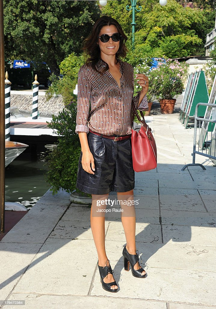 <a gi-track='captionPersonalityLinkClicked' href=/galleries/search?phrase=Valeria+Solarino&family=editorial&specificpeople=830514 ng-click='$event.stopPropagation()'>Valeria Solarino</a> is seen during the 70th Venice International Film Festival on September 4, 2013 in Venice, Italy.