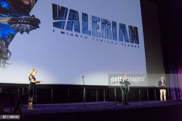 'Valerian and the City of a Thousand Planets' movie premiere at Multikino Zlote Tarasy cinema in Warsaw Poland on 22 July 2017