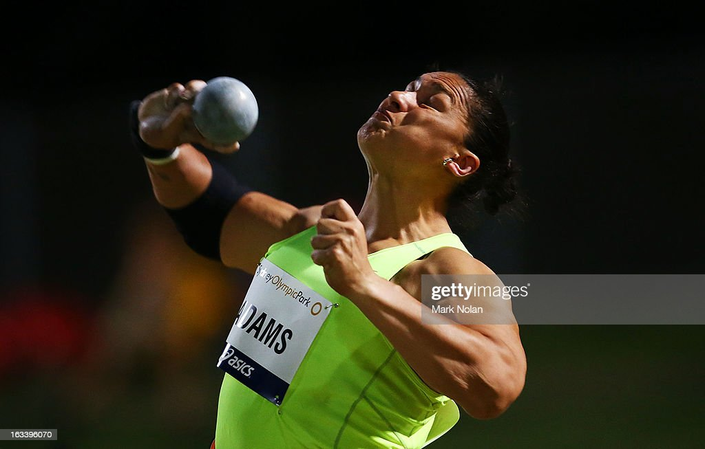 Valerie Adams of New Zealand competes in the Womens Shot Put during the Sydney Track Classic at Sydney Olympic Park Sports Centre on March 9, 2013 in Sydney, Australia.