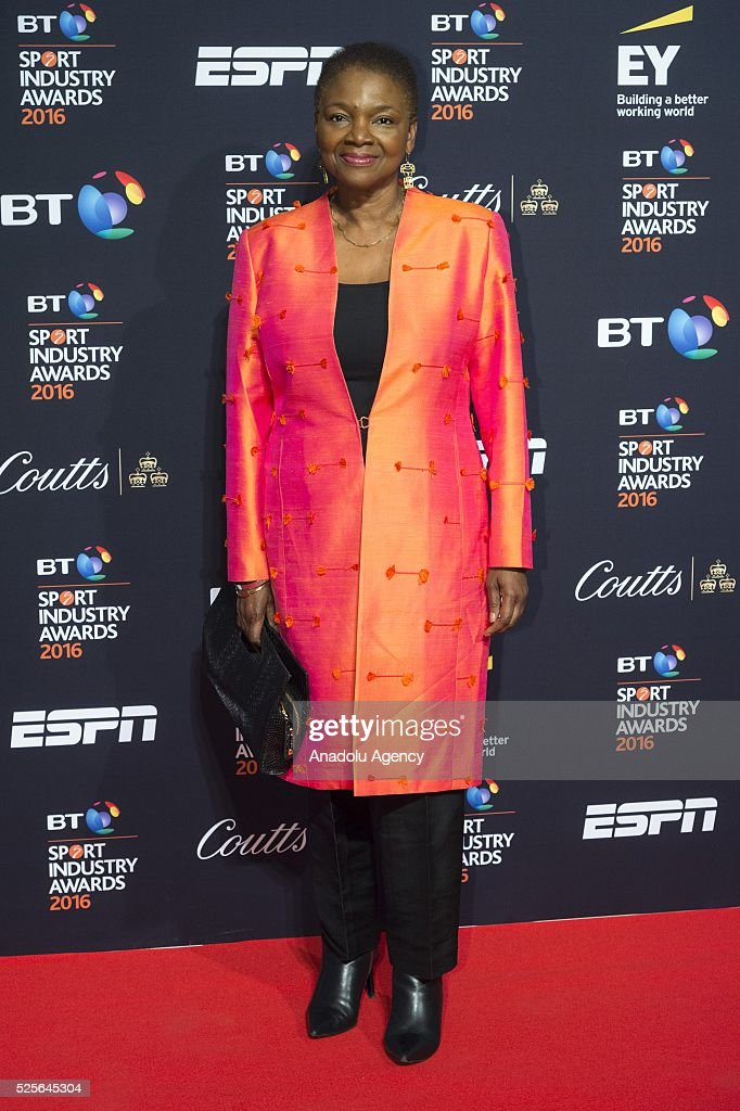 Valerie Amos attends the BT Sport Industry Awards 2016 in London, United Kingdom on April 28, 2016.