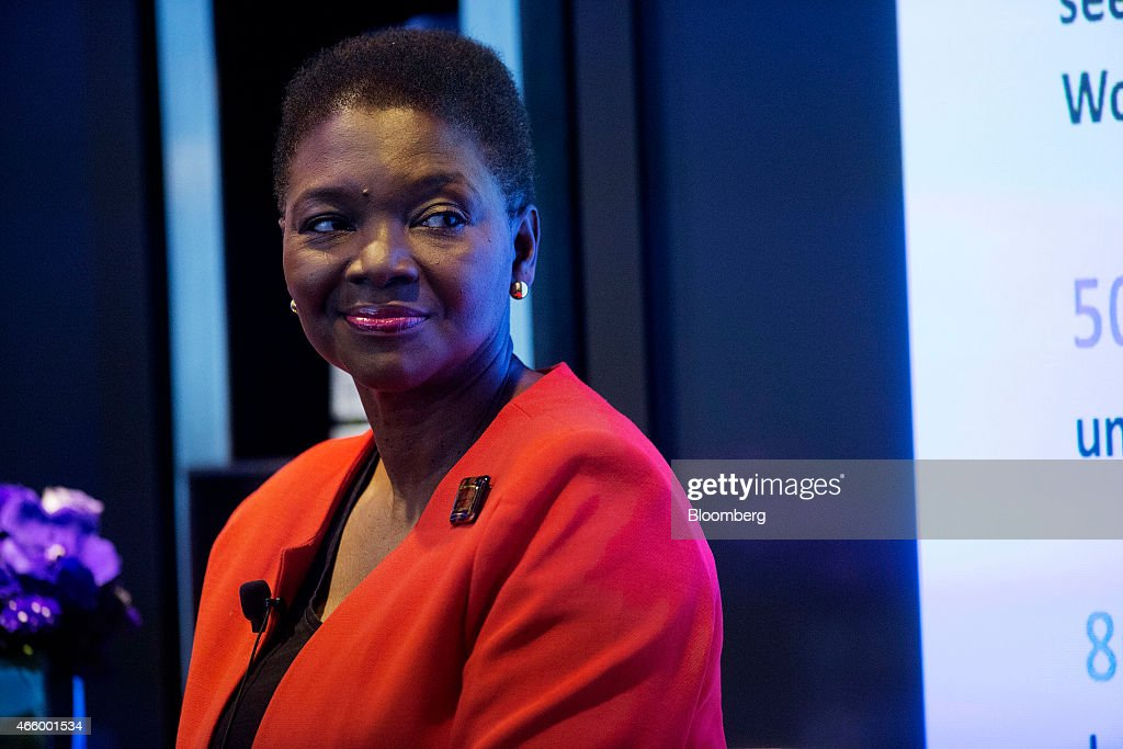 Valerie Amos under secretarygeneral for humanitarian affairs and emergency relief coordinator for the United Nations listens during an interview in...