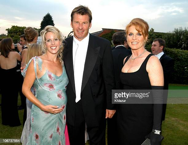 Valerie and Nick Faldo with Sarah Ferguson during The Fifth Annual White Tie Tiara Ball to Benefit the Elton John Aids Foundation in Association with...