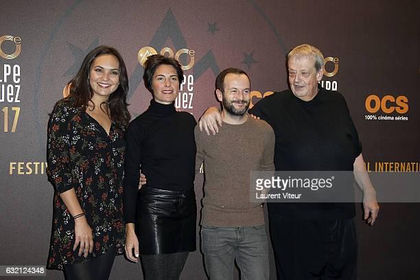 Valerie Begue Alessandra Sublet Jeremy Michalak and Guy Carlier attend 'Sous le Meme Toit' Photocall during tne 20th L'Alpe D'Huez International Film...