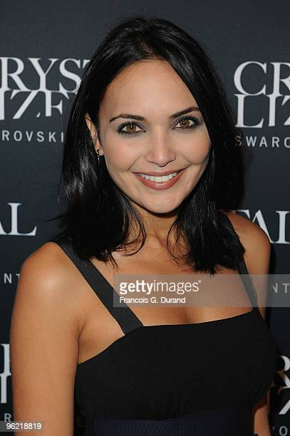 Valerie Begue attends the 22 Iconic Little Black Dresses by Swarovski at Hotel Pozzo di Borgo on January 27 2010 in Paris France