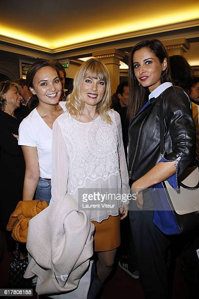 Valerie Begue Melanie Page and Camille Cerf attend 'L'Heureux Elu' theater play premiere at Theatre de La Madeleine on October 24 2016 in Paris France