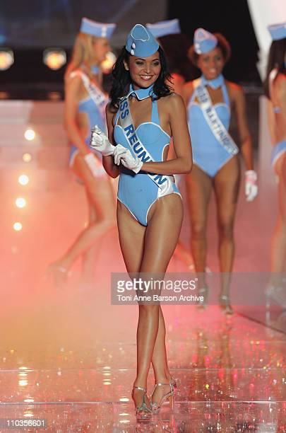 Valerie Begue Miss Reunion is elected Miss France 2008 at the Miss France Pageant on December 8 2007 in Dunkerque