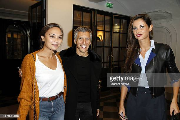 Valerie Begue Nagui and Camille Cerf attend 'L'Heureux Elu' Theater Play Premiere at Theatre de La Madeleine on October 24 2016 in Paris France