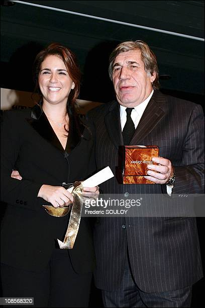 Valerie Benaim and Jean Pierre Castaldi in Paris France on December 08th 2004