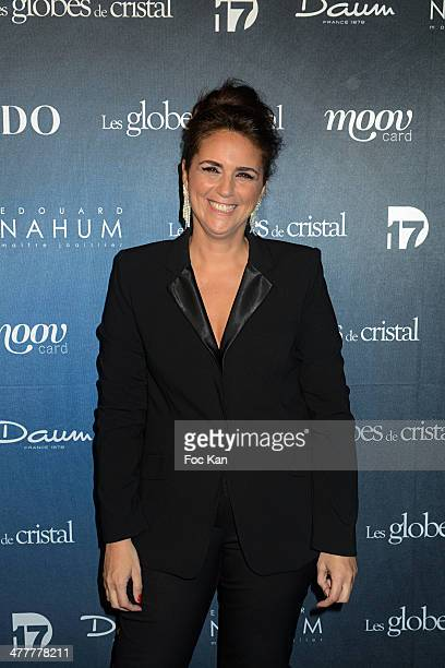 Valerie Benaim attends Les Globes de Cristal 2014 Awards Ceremony at Le Lido on March 10 2014 in Paris France