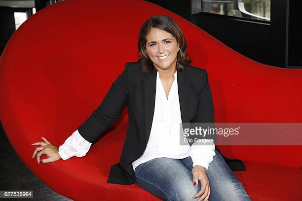 Valerie Benaim on the set of TV show 'On en Parle a Paris'