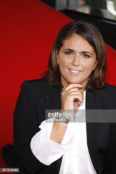 Valerie Benaim on the set of TV show 'On en Parle a Paris'