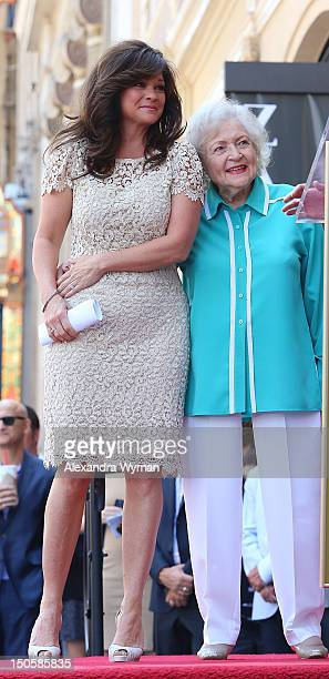 Valerie Bertinelli and Betty White at Valerie Bertinelli's Star Ceremony held On The Hollywood Walk Of Fame on August 22 2012 in Hollywood California