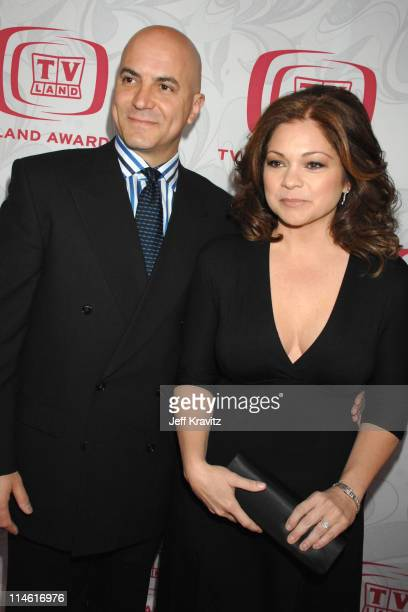 Valerie Bertinelli and guest during 5th Annual TV Land Awards Red Carpet at Barker Hangar in Santa Monica California United States