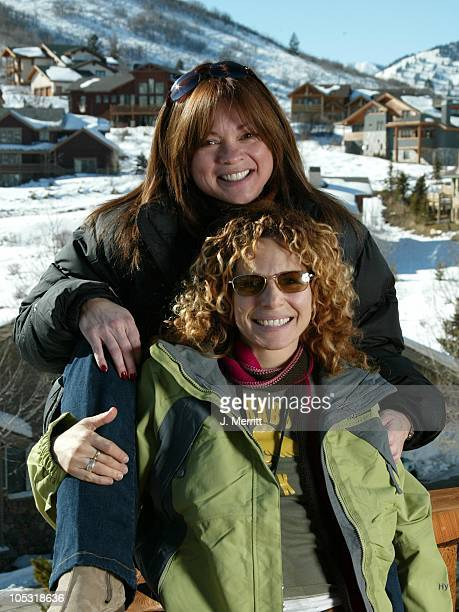 Valerie Bertinelli and Meredith Scott Lynn with The North Face