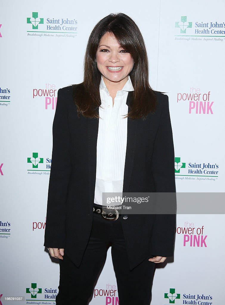 Valerie Bertinelli arrives at St. John's Health Center's 'Power of Pink' benefiting The Margie Petersen Breast Center held at Sony Picture Studios on November 12, 2012 in Los Angeles, California.