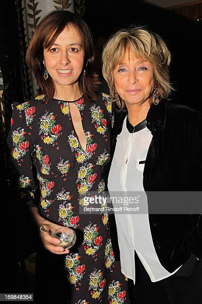 Valerie Bonneton and Daniele Thompson attend 'La Petite Maison De Nicole' Inauguration Cocktail at Hotel Fouquet's Barriere on January 21 2013 in...