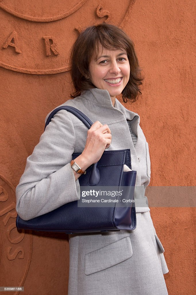Valerie Bonneton attends the Roland Garros French Tennis Open 2014.
