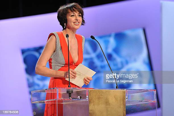 Valerie Bonneton speaks on stage during the 37th Cesar Film Awards at Theatre du Chatelet on February 24 2012 in Paris France