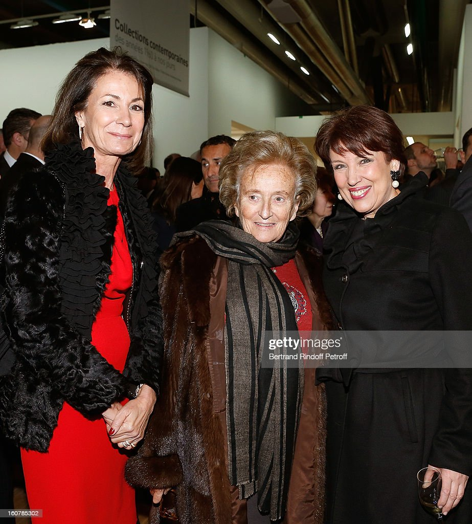 Valerie Breton, Bernadette Chirac and Roselyne Bachelot Narquin attend the 8th Annual Dinner of the 'Societe Des Amis Du Musee D'Art Moderne' at Centre Pompidou on February 5, 2013 in Paris, France.