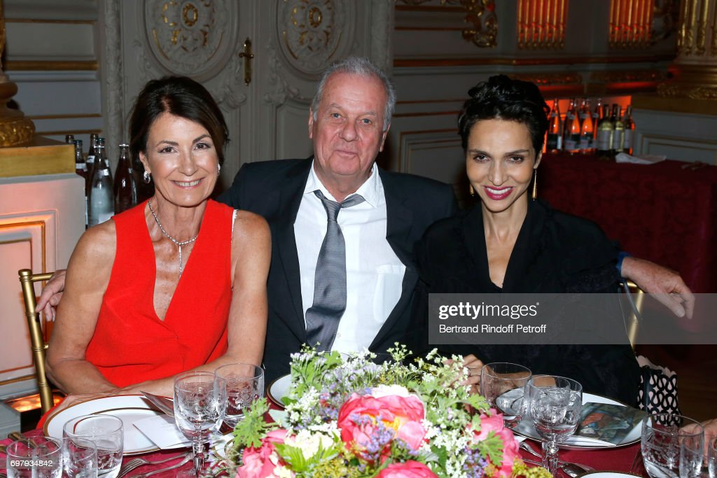Valerie Breton, Jacques Grange and Farida Khelfa Seydoux attend the 'Societe ses Amis du Musee d'Orsay' : Dinner Party at Musee d'Orsay on June 19, 2017 in Paris, France.