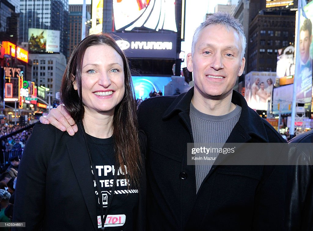 """Valerie Buckingham, Marketing director, Nokia North America, and Chris Weber President of Nokia attend as Times Square was brought to a standstill on April 6, 2012 as Nicki Minaj teamed up with Nokia to perform live for the launch of the Windows Phone-based Nokia Lumia 900 in North America, in New York City. Tens of thousands of people watched Nicki perform a medley of her hits before a prominent Times Square building was turned into a living, breathing entity in time to the unique Nokia Lumia 900 remix of her hit single 'Starships'. The building appeared to fill with water before a 60ft waterfall was seen to cascade down the side of the building. The reaction of the crowd was shown on nine massive electronic screens around the famous square making it one of the biggest LED displays ever seen and will be used in the video of Nicki's new Nokia Lumia 900 remix of 'Starships'. """"When Nokia came to me with the idea to make a building come alive and to perform in Times Square in front of my fans to celebrate the launch of the Nokia Lumia 900 there was only ever one answer. To see the idea on paper was amazing but to see it for real blew me away. It brought Times Square to a standstill. The absolute bonus for me is that my fans, who have been so loyal to me, are now part of the video for the Starships Nokia remix. Performing in my home town of NYC the same week as the release of my new album, Pink Friday: Roman Reloaded is amazing and it really is a dream come true."""" The Nokia Lumia 900 will be available in unique and eye-catching cyan blue and a matte black with a new high-gloss white version on sale later this month. To watch more of the amazing event go to www.facebook.com/nokiaus"""