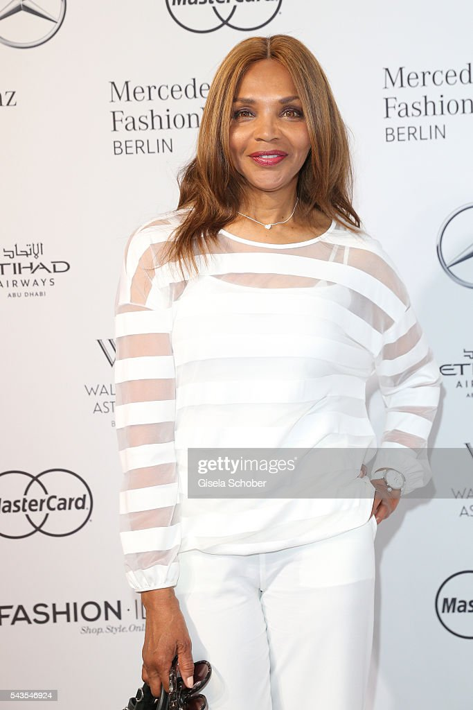 Valerie Campbell attends the Minx by Eva Lutz show during the MercedesBenz Fashion Week Berlin Spring/Summer 2017 at Erika Hess Eisstadion on June 29...