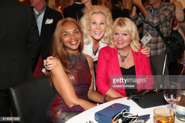 Valerie Campbell Birgit Bergen and Erna Klum during the media night of the CHIO 2017 on July 18 2017 in Aachen Germany