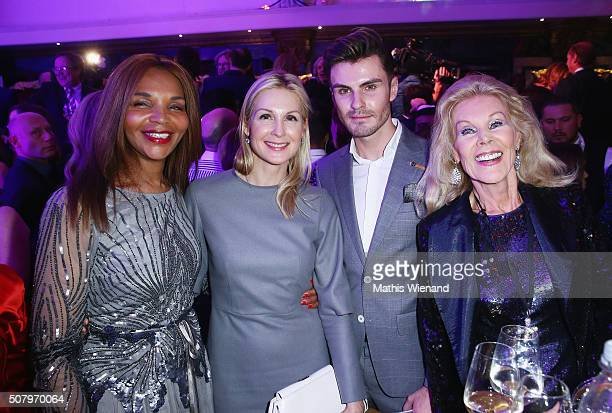 Valerie Campbell Kelly Rutherford PaulHenry Duval Birgit Bergen during the Lambertz Monday Night 2016 at Alter Wartesaal on February 1 2016 in...