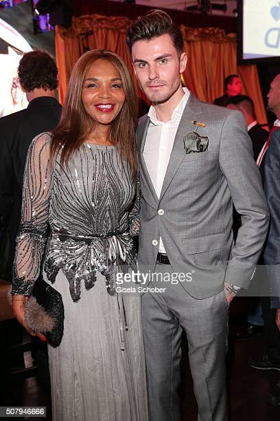 Valerie Campbell Morris mother of Naomi Campbell and Paul Henry Duval during the Lambertz Monday Night 2016 at Alter Wartesaal on February 1 2016 in...