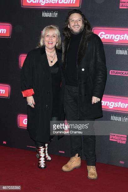 Valerie Damidot and Regis Viogeat attends the 'Gangsterdam' Paris Premiere at Le Grand Rex on March 23 2017 in Paris France