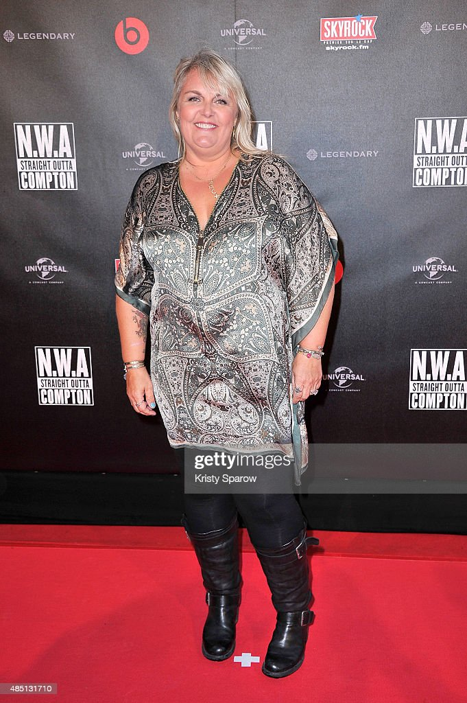 <a gi-track='captionPersonalityLinkClicked' href=/galleries/search?phrase=Valerie+Damidot&family=editorial&specificpeople=5646122 ng-click='$event.stopPropagation()'>Valerie Damidot</a> attends the 'NWA Straight Outta Compton' Paris Premiere at UGC Cine Cite Bercy on August 24, 2015 in Paris, France.