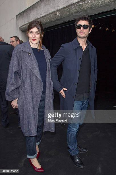 Valerie Donzelli and Jeremie Elkaim attend the Dior Homme Menswear Fall/Winter 20142015 show as part of Paris Fashion Week on January 18 2014 in...