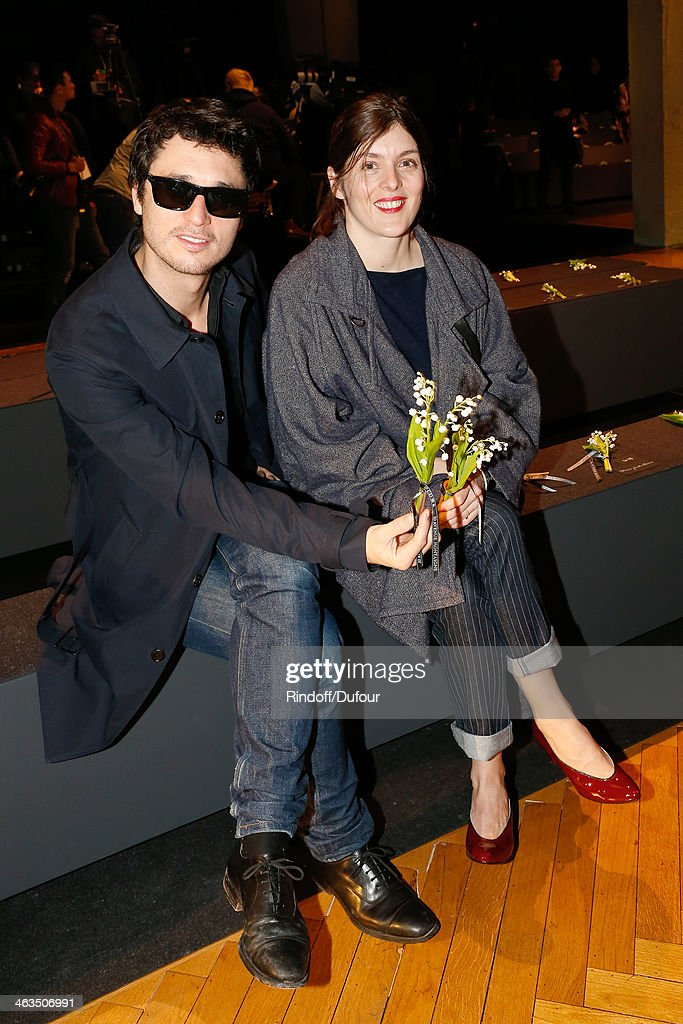 Valerie Donzelli and Jeremie Elkaim attend the Dior Homme Menswear Fall/Winter 20142015 show as part of Paris Fashion Week Held at Tennis Club de...