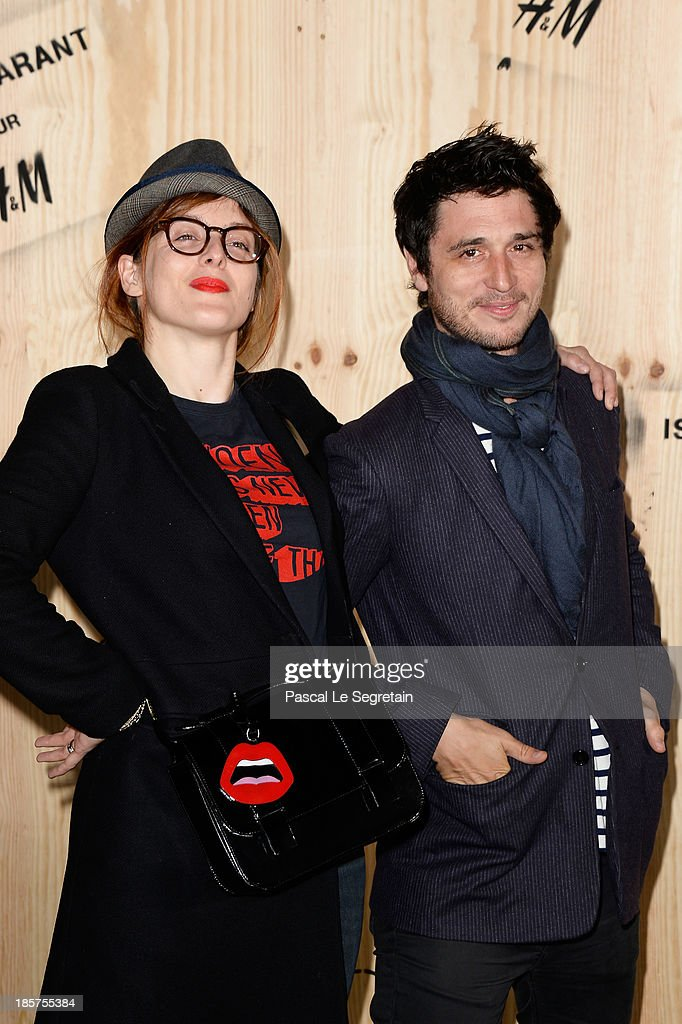 Valerie Donzelli and Jeremie Elkaim attend the 'Isabel Marant For HM' Photocall at Tennis Club De Paris on October 24 2013 in Paris France