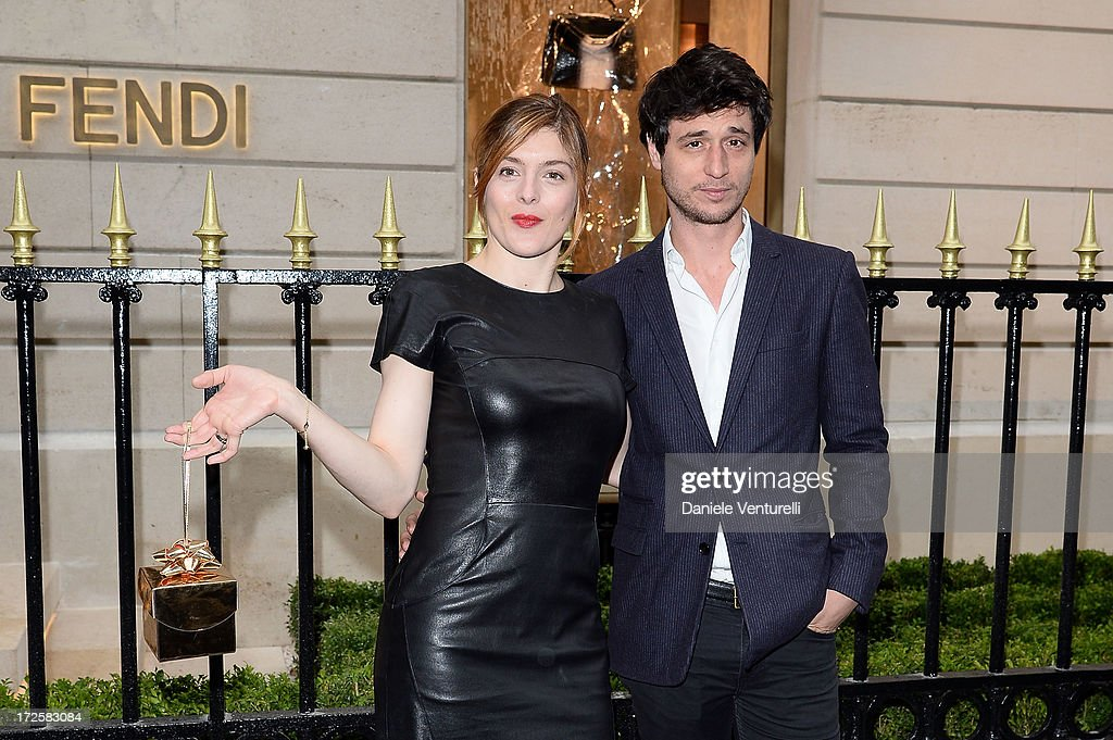 Valerie Donzelli and Jeremie Elkaim attend the opening of Fendi's new boutique at 51 Avenue Montaine on July 3, 2013 in Paris, France.