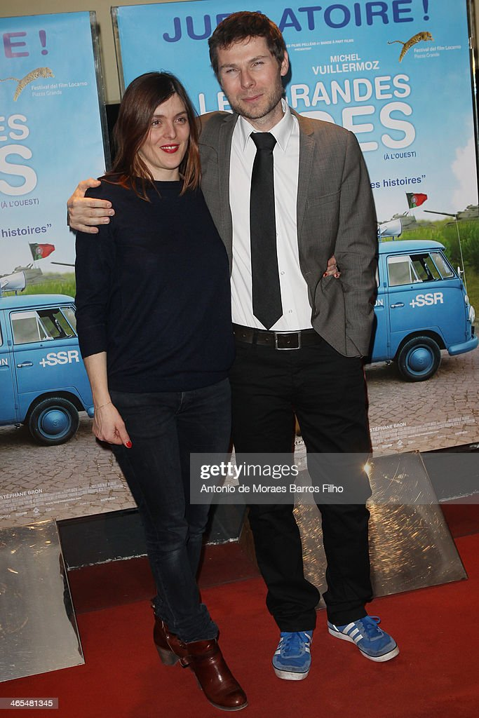 Valerie Donzelli and Lionel Baier attend the premiere of 'Les Grandes Ondes' at UGC Cine Cite des Halles on January 27 2014 in Paris France