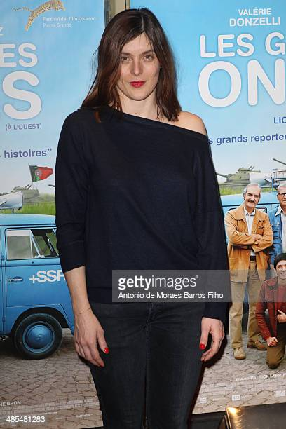 Valerie Donzelli attends the premiere of 'Les Grandes Ondes' at UGC Cine Cite des Halles on January 27 2014 in Paris France